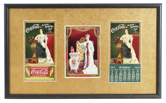 Coca-Cola 1904 Soda Menu, 1909 Coupon & Calendar
