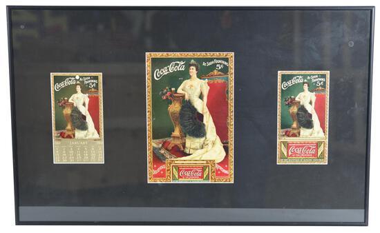 1905 Coca-Cola Calendar, 2-Coupon w/Lillian Nordica