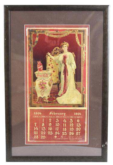 1904 Coca-Cola Calendar w/Lillian Nordica Standing