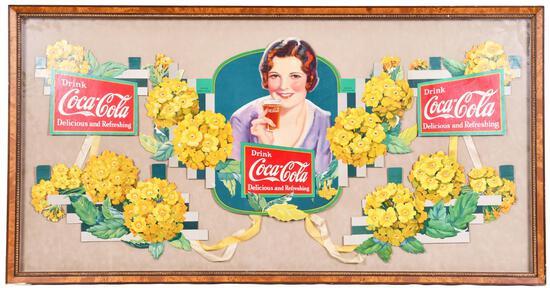 "1932 Coca-Cola Festoon ""Verbena"" w/Flowers"