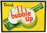 Drink Bubble Up w/Bottle Metal Sign