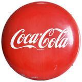 Coca-Cola Porcelain Button Sign