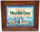 Don?t Forgit Mountain Dew Paper Poster