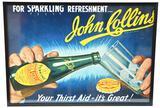 John Collins w/Bottle Cardboard Sign