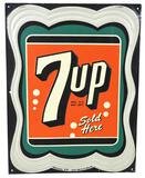 7up Sold Here Metal Sign