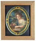 1910 Coca-Cola Oval Serving Tray Exhibition Girl
