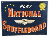 Play National Shuffleboard Metal Sign