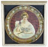 1903 Coca-Cola Round Serving Tray Hilda with Glass