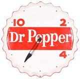 Dr Pepper 10-2-4 Bottle Cap Electric Clock