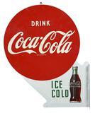 Drink Coca-Cola w/Bottle Metal Sign