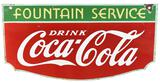 Drink Coca-Cola Fountain Service (along top) Porcelain Sign