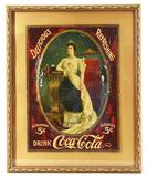 1905 Drink Coca-Cola w/Lillian Nordica Arm Table Sign