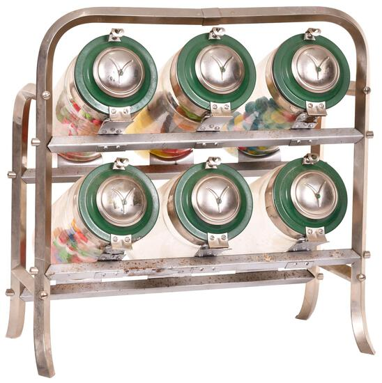 Nice Six Candy Container Counter-Top Display