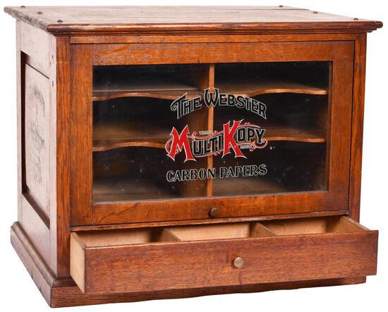 The Webster Mult-Kopy Carbon Papers Display Cabinet