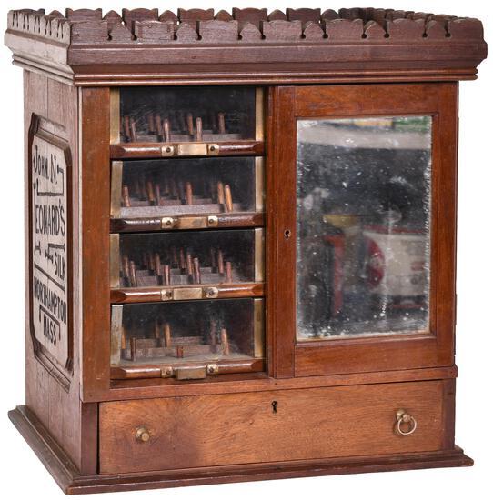 John N. Leonard's Silk Wood Thread Cabinet