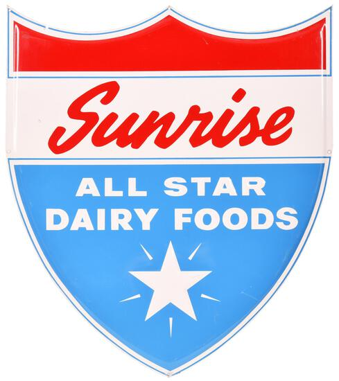Sunrise All Star Dairy Foods Metal Sign