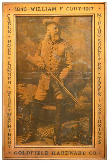 1846-1917 William F. Cody Goldfield Hardware Co. Print Framed