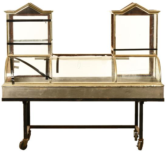 Double Stacked Cathedral Top Curved Front Display Case
