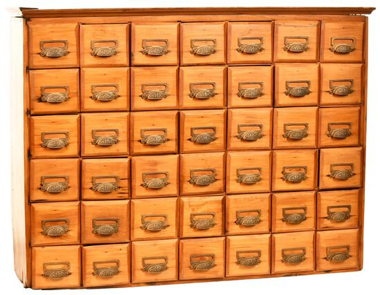 Pine Chest w/42-Drawers
