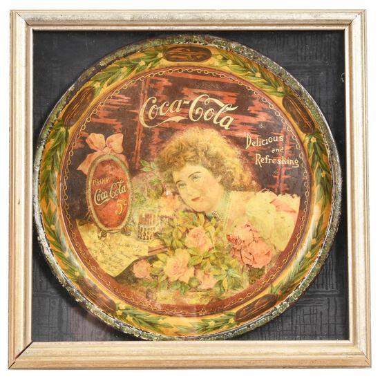 1901 Coca-Cola Serving Tray w/Rose