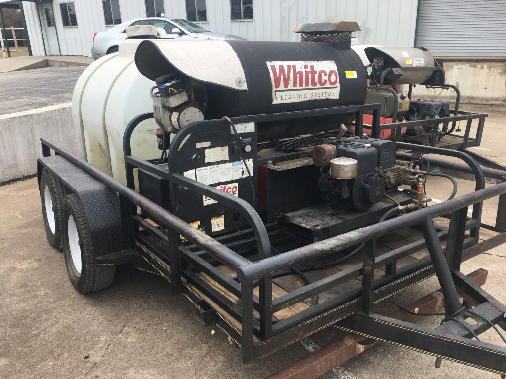 2011 Whitco Portable Pressure Washer On Trailer