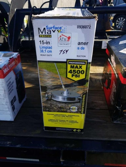 """15"""" Surface Cleaner 4500psi max"""