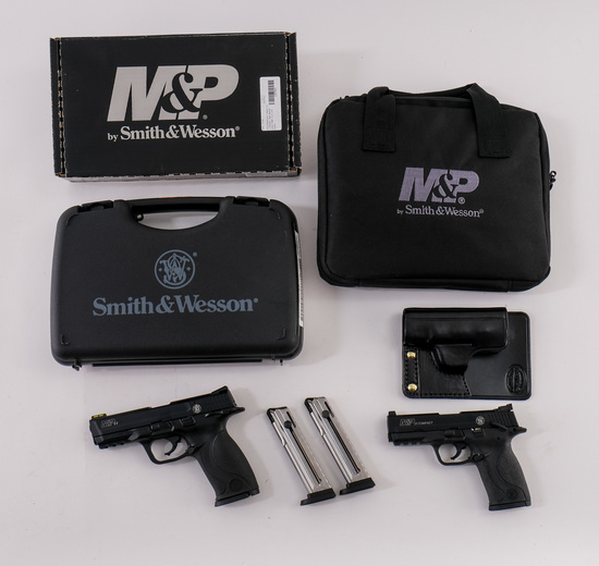 Two Smith & Wesson M&P .22 Pistols