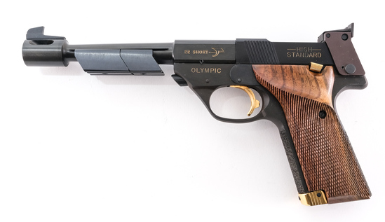 High Standard 1980 Olympic .22 Short Pistol 9239