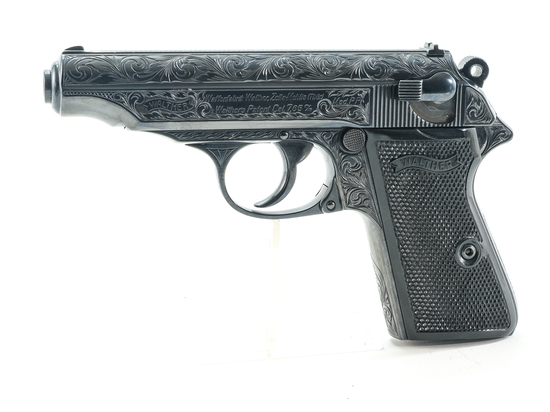 Engraved Walther PP by Ben Shostle .32 Pistol