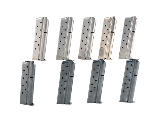 Nine Original Colt .38 Super 1911 Magazines