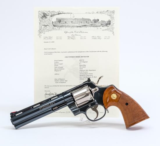 1985 Colt Python .357 Mag Revolver Custom Pinto