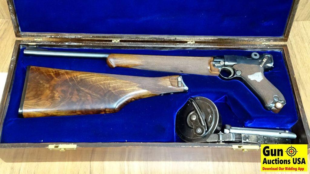 DWM LUGER CARBINE 9MM COLLECTOR Pistol  STUNNING  16 5