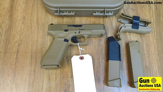 "Glock 19X 9MM Marksman Barrel Coyote Pistol. NEW in Box. 4"" Barrel. Bronze Cerekote, Glock Night Sit"
