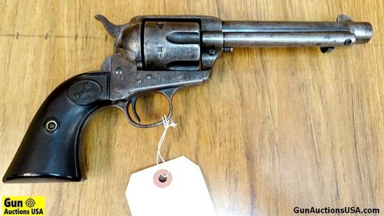 "Colt 1892 FRONTIER SIX SHOOTER .45 COLT COLLECTOR'S Revolver. Good Condition. 5.5"" Barrel. Shiny Bor"