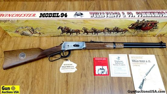 """Winchester 94 WELLS FARGO & CO. COMMEMORATIVE .30-30 Commemorative Rifle. NEW in Box. 20"""" Barrel. Ou"""