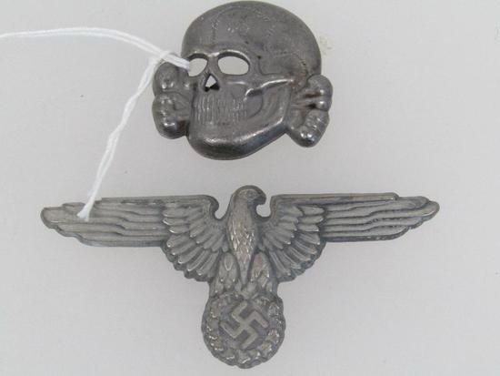 German World War II Waffen SS Officers Visor Cap Eagle