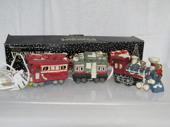 lighted train pictures