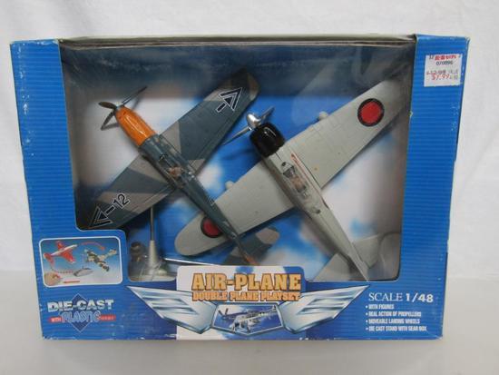 New-Ray Zero Fighter Double Plane Playset Diecast Plastic 1