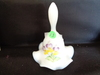 Fenton HP White Bell Signed Everson