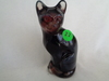 Fenton  Plum Opal Stylized Cat  SAMPLE