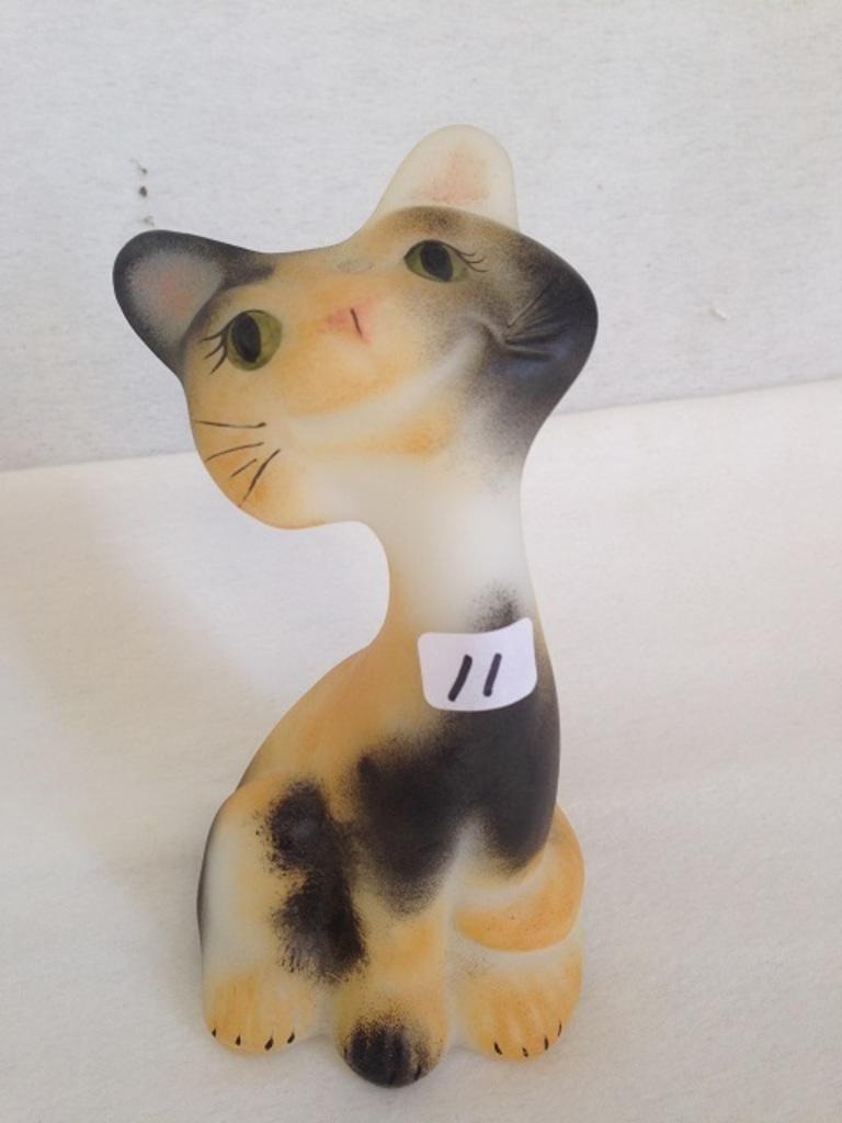 Lot: Fenton Happy Cat Calico | Proxibid Auctions