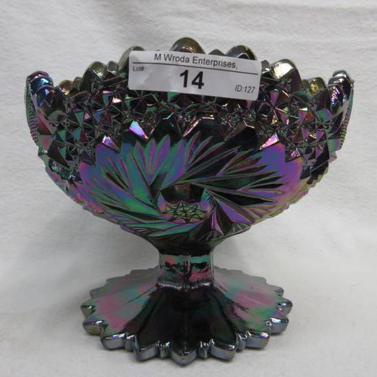 """Fenton 5""""  Purple Contemp. Carnival Compote"""