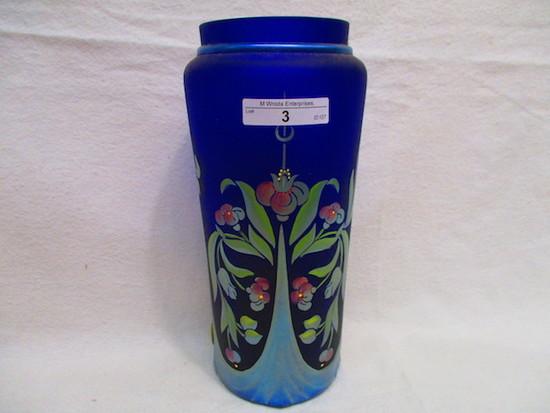 """Fenton 9"""" HP Favrene Vase - Pam Hesk 220/350"""