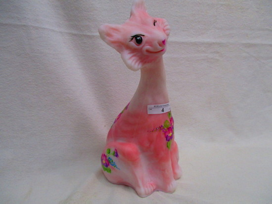 "Fenton HP Roselene Alley Cat - ""forget me Not"" Joyce Coella - 15/70"