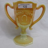 Fenton Gold Painted Good Luck Loving Cup 1983