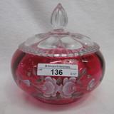 Fenton HP Red Powder Jar