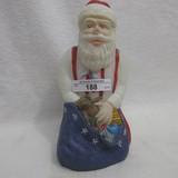 Fenton HP Kneeling Patriotic Santa - Barbour