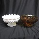 2 Fenton Candle bowls