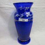 Fenton HP Cobalt Blue Vase