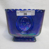Fenton Blue Irid. Colonial Square Candy Independence Blue 74-76